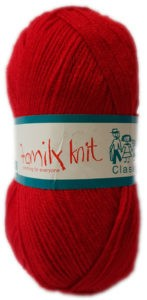 FAMILY KNIT 4 PLY 50g-COL.169 CHERRY RED 4