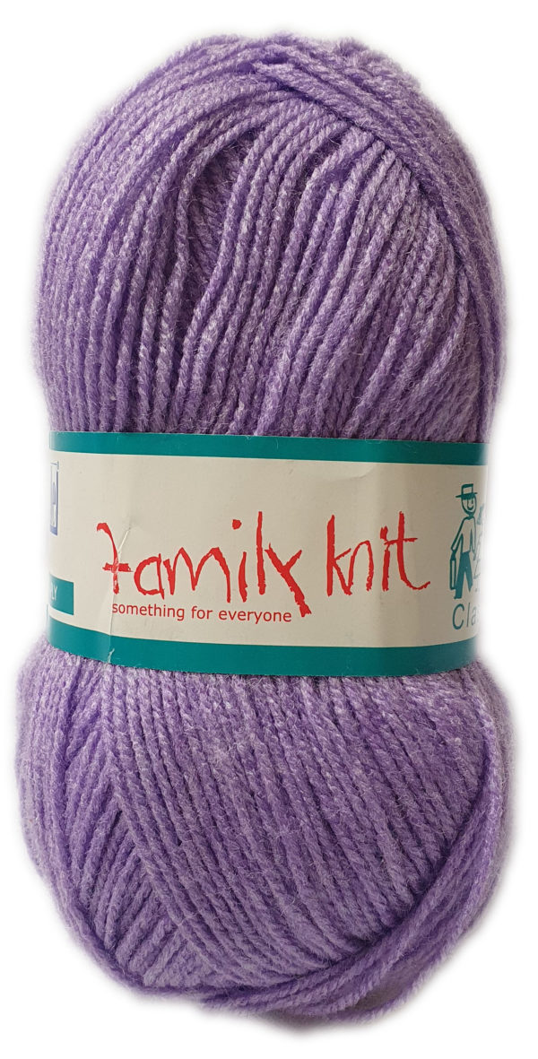 FAMILY KNIT 4 PLY 50g-COL.364 SWEET VIOLET 1