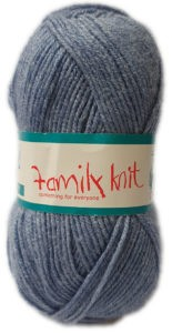 FAMILY KNIT 4 PLY 50g-COL.378 INDIBLUE 4
