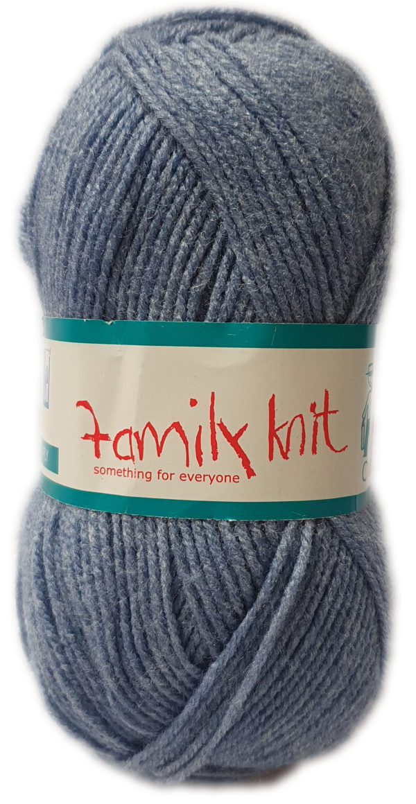 FAMILY KNIT 4 PLY 50g-COL.378 INDIBLUE 1
