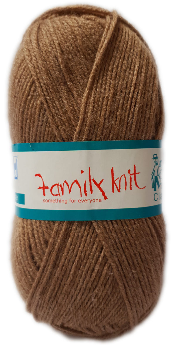 FAMILY KNIT 4 PLY 50g-COL.449 OLD BROWN 1