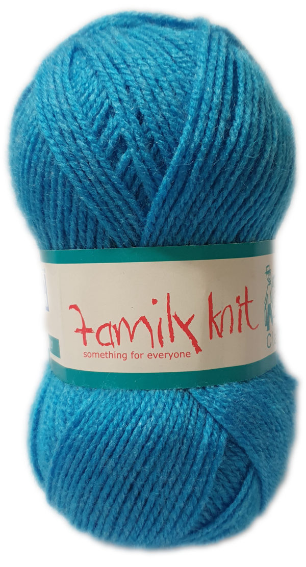 FAMILY KNIT 4 PLY 50g-COL.459 TURQUOISE SPLASH 1