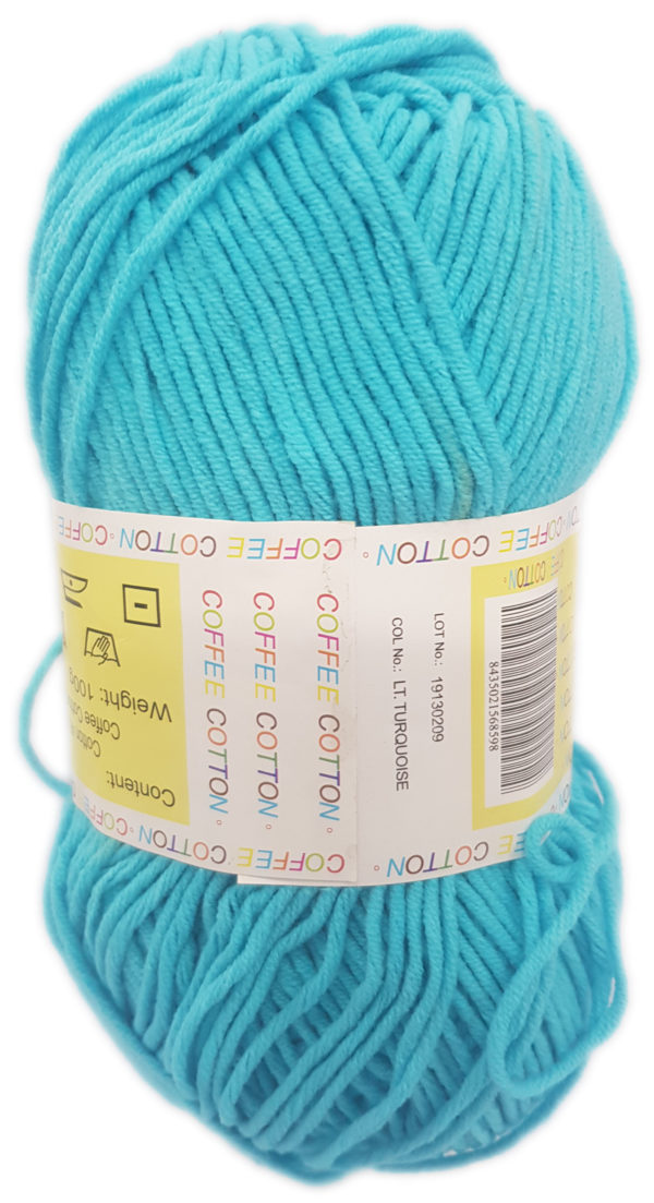 COFFEE COTTON D.K 100g-COL.LIGHT TURQUOISE 1