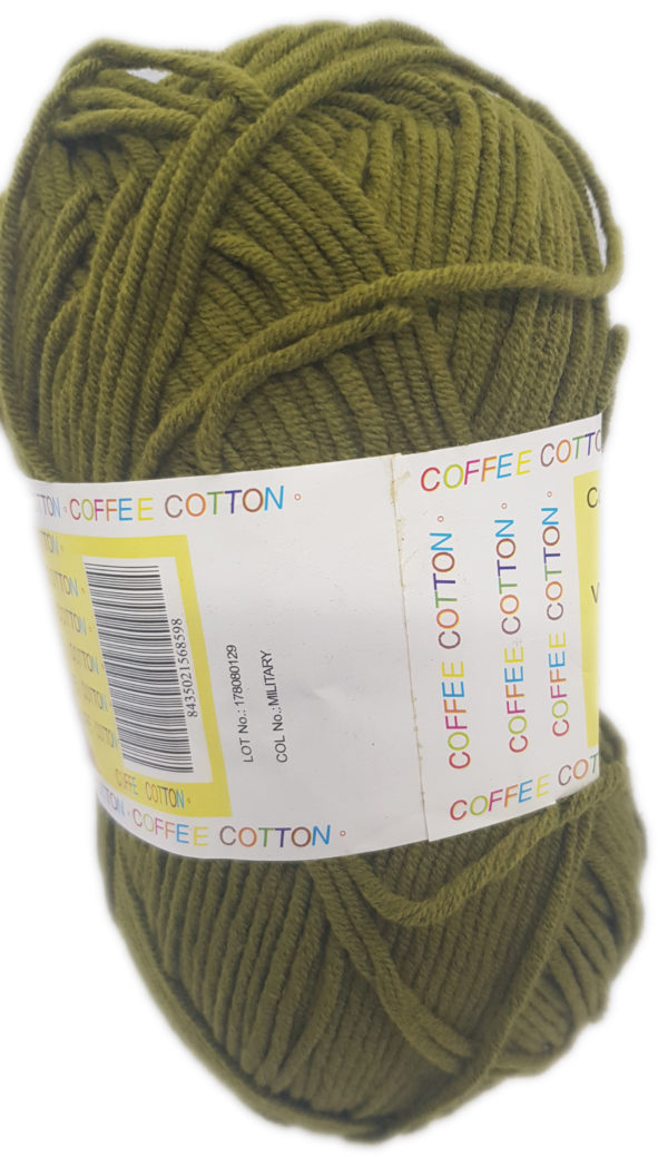COFFEE COTTON D.K 100g-COL.MILITARY 1
