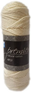 PREMIER NATURAL COTTON 4 PLY 50g-COL.014 IVORY 4