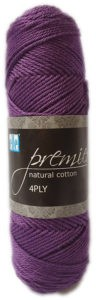 PREMIER NATURAL COTTON 4 PLY 50g-COL.064 MULBERRY 4