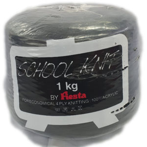 FIESTA SCHOOL KNIT 4 PLY 1Kg-COL.017 BLACK 13
