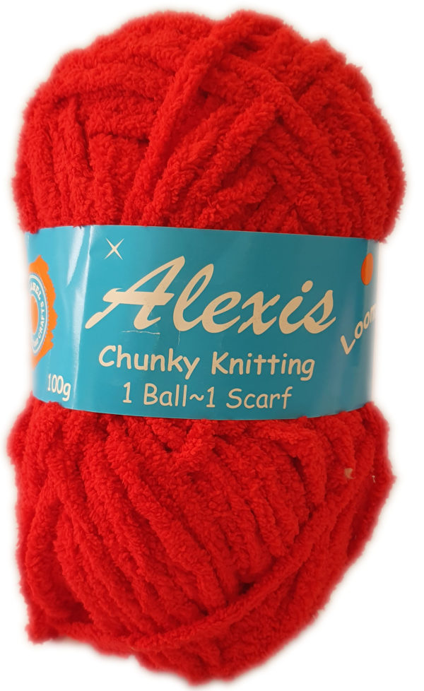 ALEXIS CHUNKY 100g-COL.13 RED 1