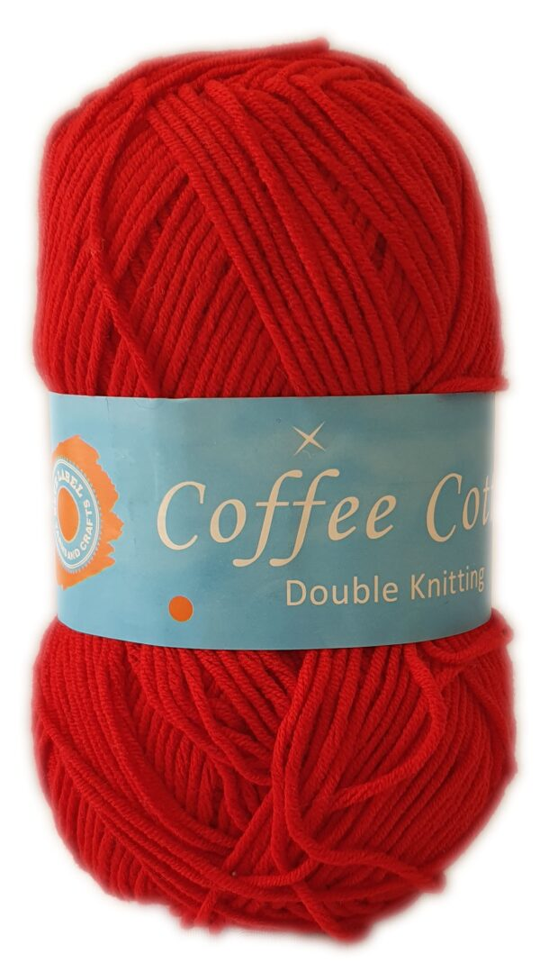 COFFEE COTTON D.K 100g-COL.013 RED 1