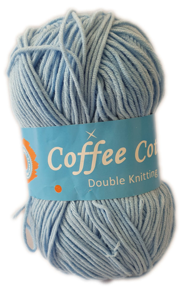 COFFEE COTTON D.K 100g-COL.186 SKY BLUE 1