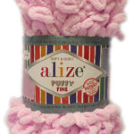 ALIZE PUFFY FINE 100g-COL.60 BLACK 2