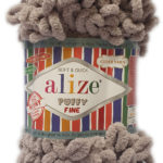 ALIZE PUFFY FINE 100g-COL.60 BLACK 3