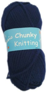 CHUNKY KNITTING 100g-COL.04 NAVY BLUE 3