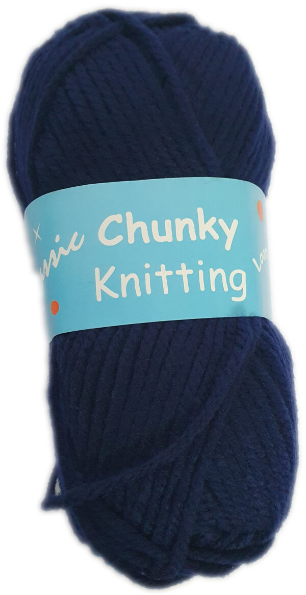 CHUNKY KNITTING 100g-COL.04 NAVY BLUE 1