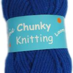 CHUNKY KNITTING 100g-COL.04 NAVY BLUE 2