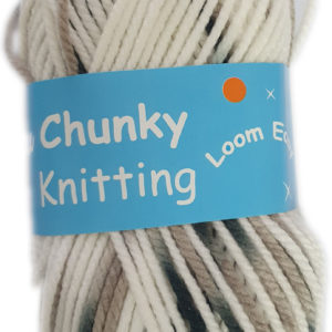 CHUNKY KNITTING PRINT 100g-COL.19 BLACK/WHITE 5