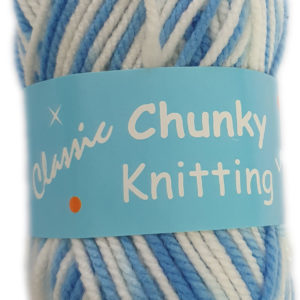 CHUNKY KNITTING PRINT 100g-COL.31 BLUE/WHITE 7