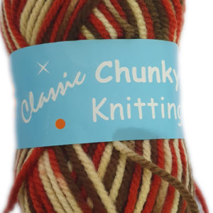 CHUNKY KNITTING PRINT 100g-COL.36 RUST/BROWN/CREAM 8