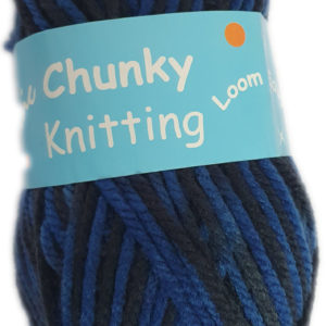 CHUNKY KNITTING PRINT100g-COL.43 DENIM MIX 2