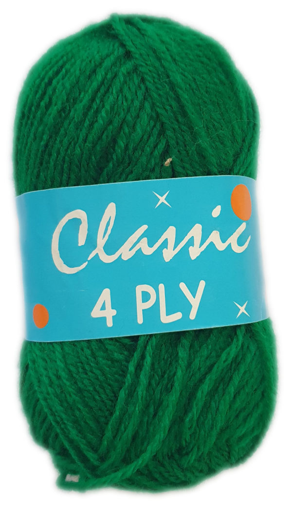 CLASSIC 4 PLY 25g-COL.63 GREEN 1