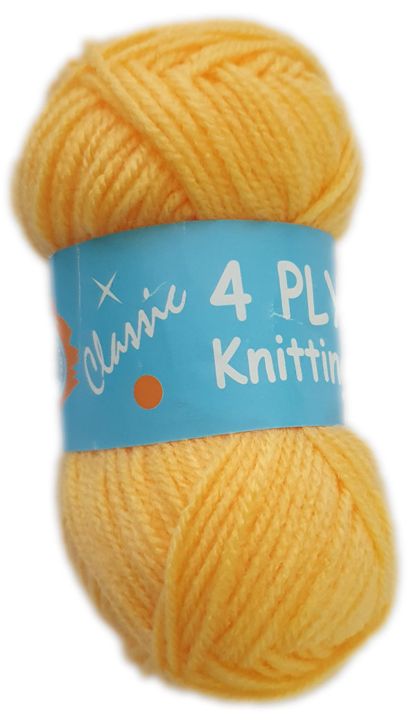 CLASSIC 4 PLY 25g-COL.108 YELLOW GOLD 1