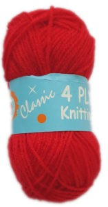CLASSIC 4 PLY 25g-COL.13 RED 4