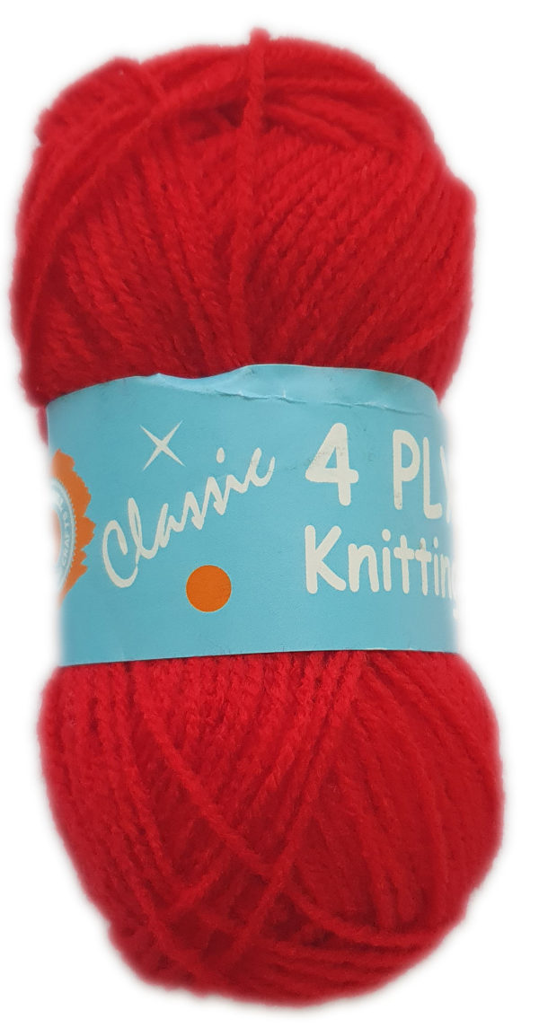 CLASSIC 4 PLY 25g-COL.13 RED 1