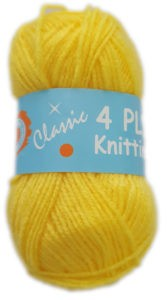 CLASSIC 4 PLY 25g-COL.62 YELLOW 4
