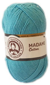 MADAME COTTON 100g-COL.016 TURQUOISE 4
