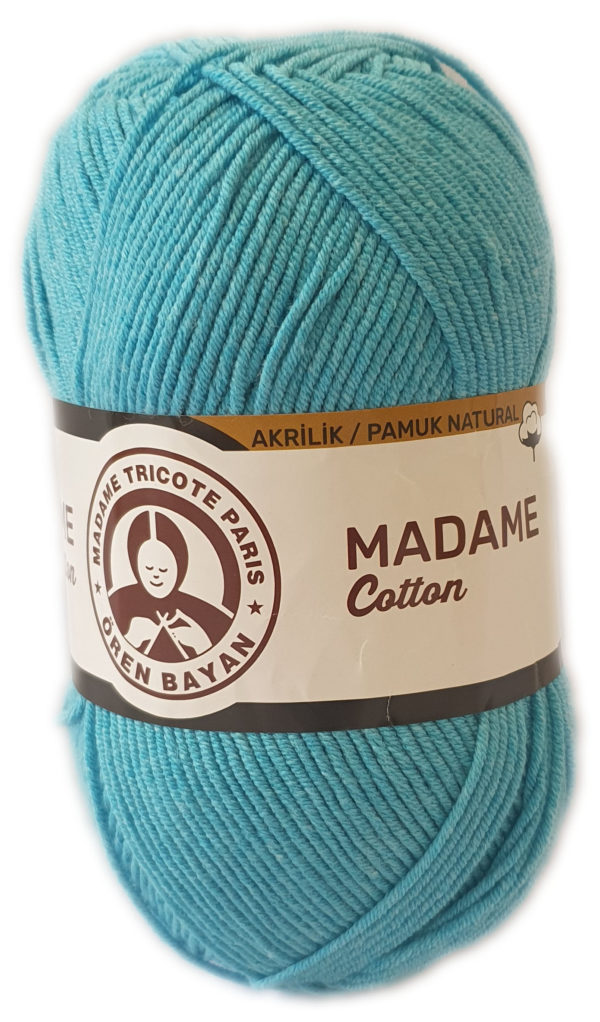 MADAME COTTON 100g-COL.016 TURQUOISE 1