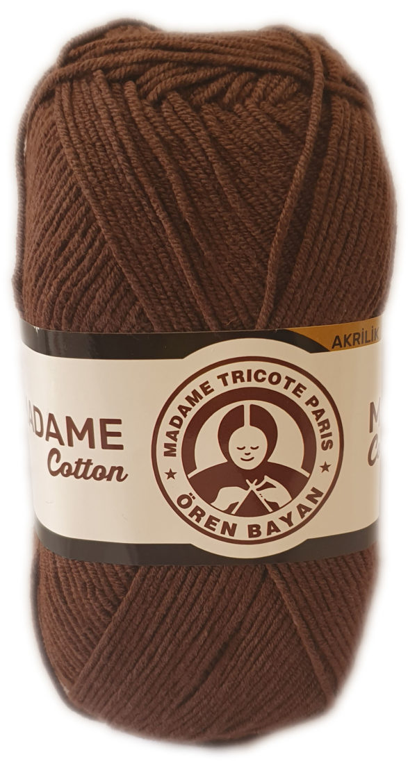 MADAME COTTON 100g-COL.059 BROWN 1