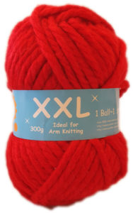 XXL CHUNKY YARN 300g-COL.13 RED 4