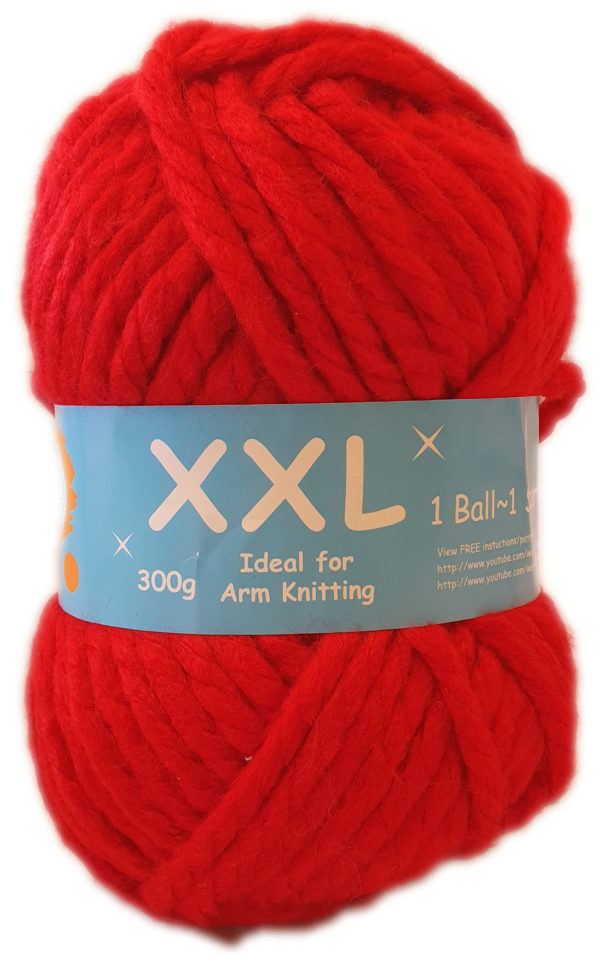 XXL CHUNKY YARN 300g-COL.13 RED 1